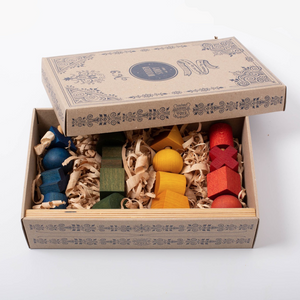 Beautiful cardboard packaging of the Wooden Story extra large stacking toy