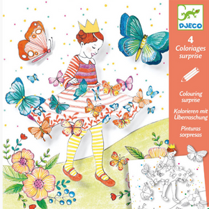 Djeco Colouring Surprise Lady with Butterflies design, package front