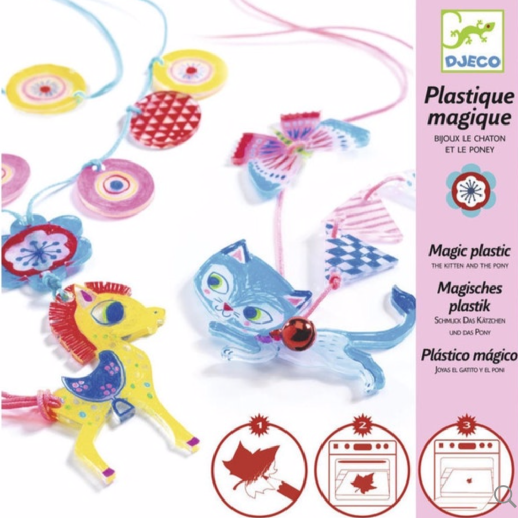 Djeco Magic Plastic Kitten & Pony