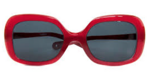 Paxley Kids Sunglasses in Larchmont style, red colour