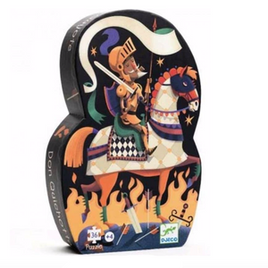 Djeco Silhouette Puzzle in Don Quichotte  design, shaped box