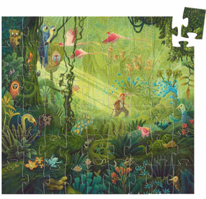 Djeco Silhouette Puzzle in The Jungle  design, finished puzzle picture