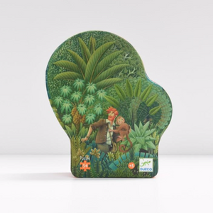 Djeco Silhouette Puzzle in The Jungle  design, shaped box