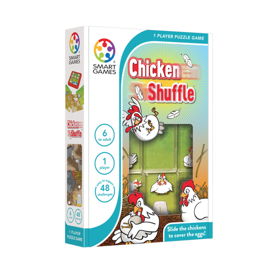 Smart Games Chicken shuffle single player game, box