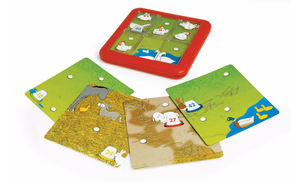 Smart Games Chicken shuffle single player game, some of the challenge cards