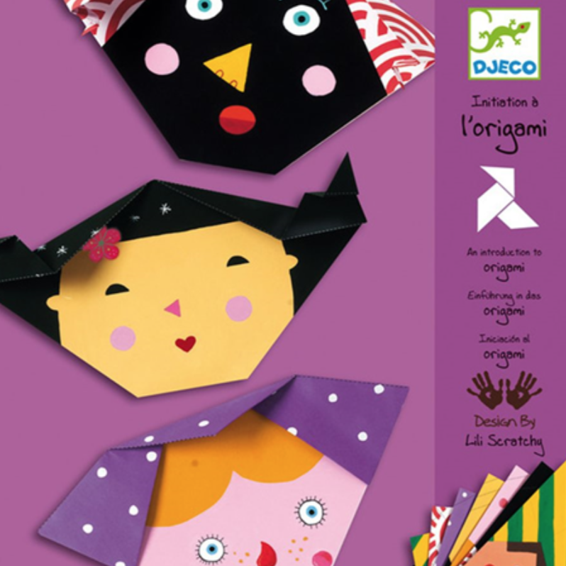 Djeco Origami papers, in pretty faces design