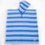 Troupe Poncho Towel -Rugby Stripe
