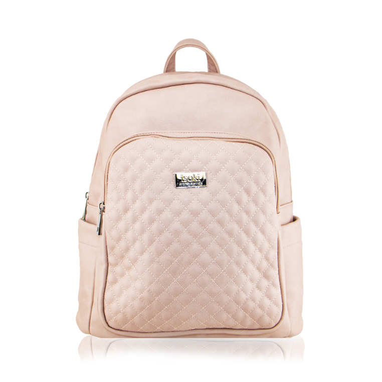 Isoki Marlo Backpack Bag in Mushroom colour, front view