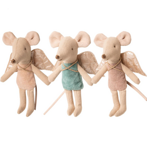 Maileg Little Sister sized Fairy Mouses, available in 3 sweet colors, sold seperately