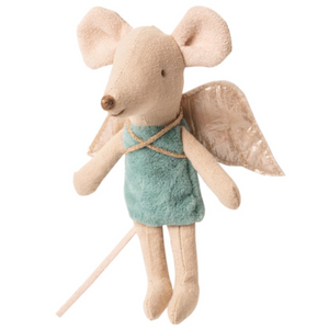 Maileg Little Sister sized Fairy Mouses, pictured in mint