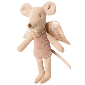Maileg Little Sister sized Fairy Mouses, pictured in mauve