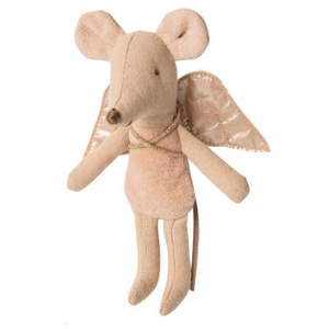 Maileg Little Sister sized Fairy Mouses, pictured in pink