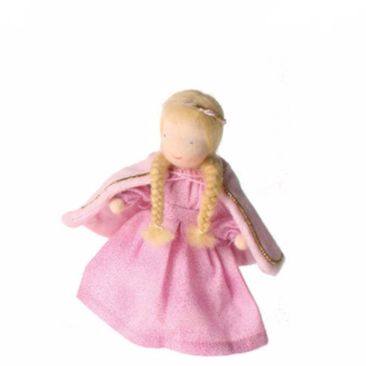 Steiner inspired Evi Mini Doll, in cute pink Princess