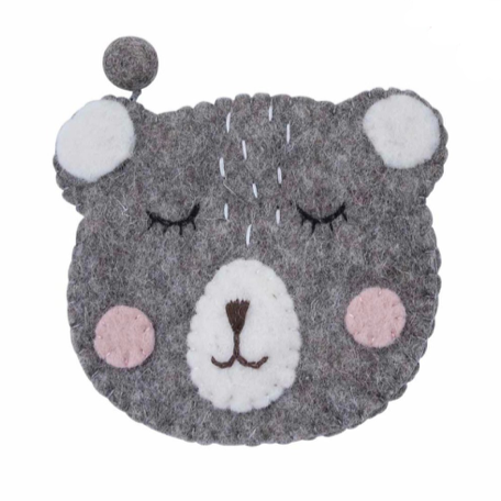 Pashom Felt Coin Purse -Bear