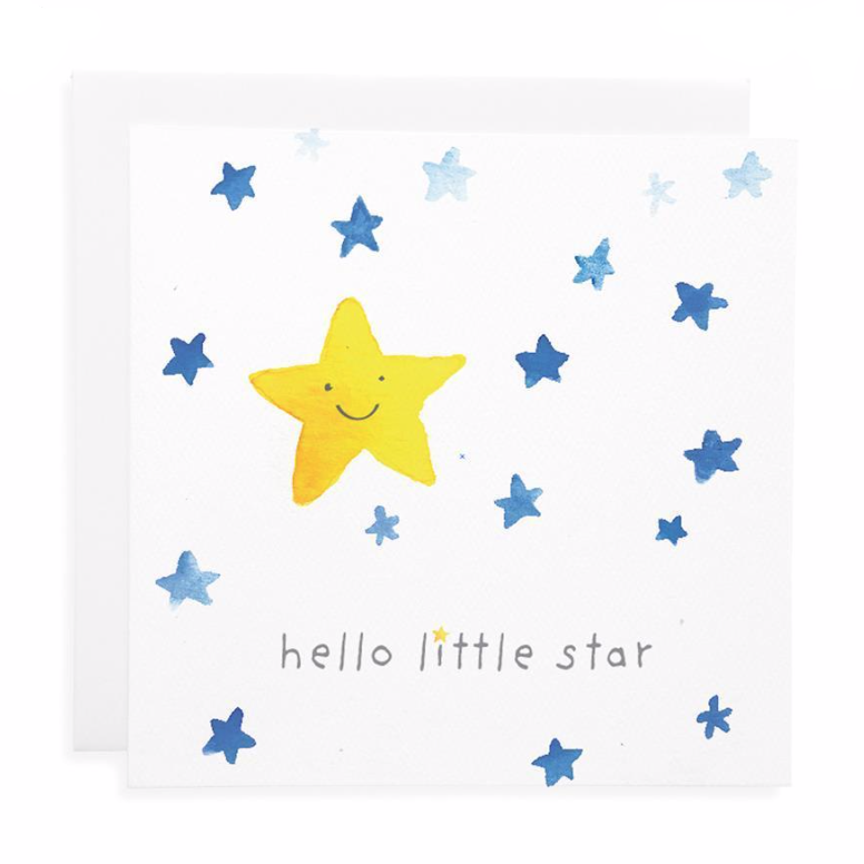 Hello Little Star Card by Lauren Hinkley