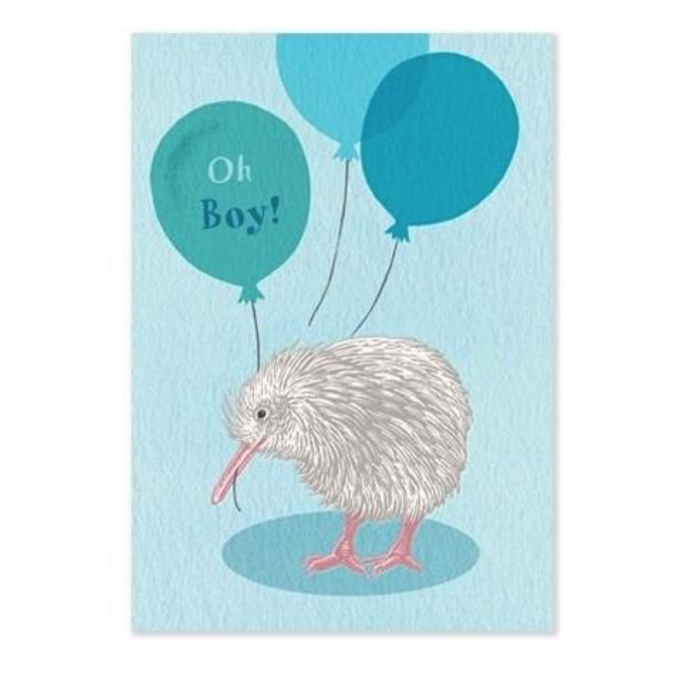 Oh Boy Kiwi Baby Card