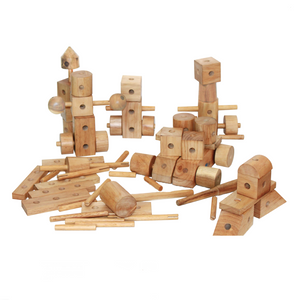 QToys Natural Wooden Construction set
