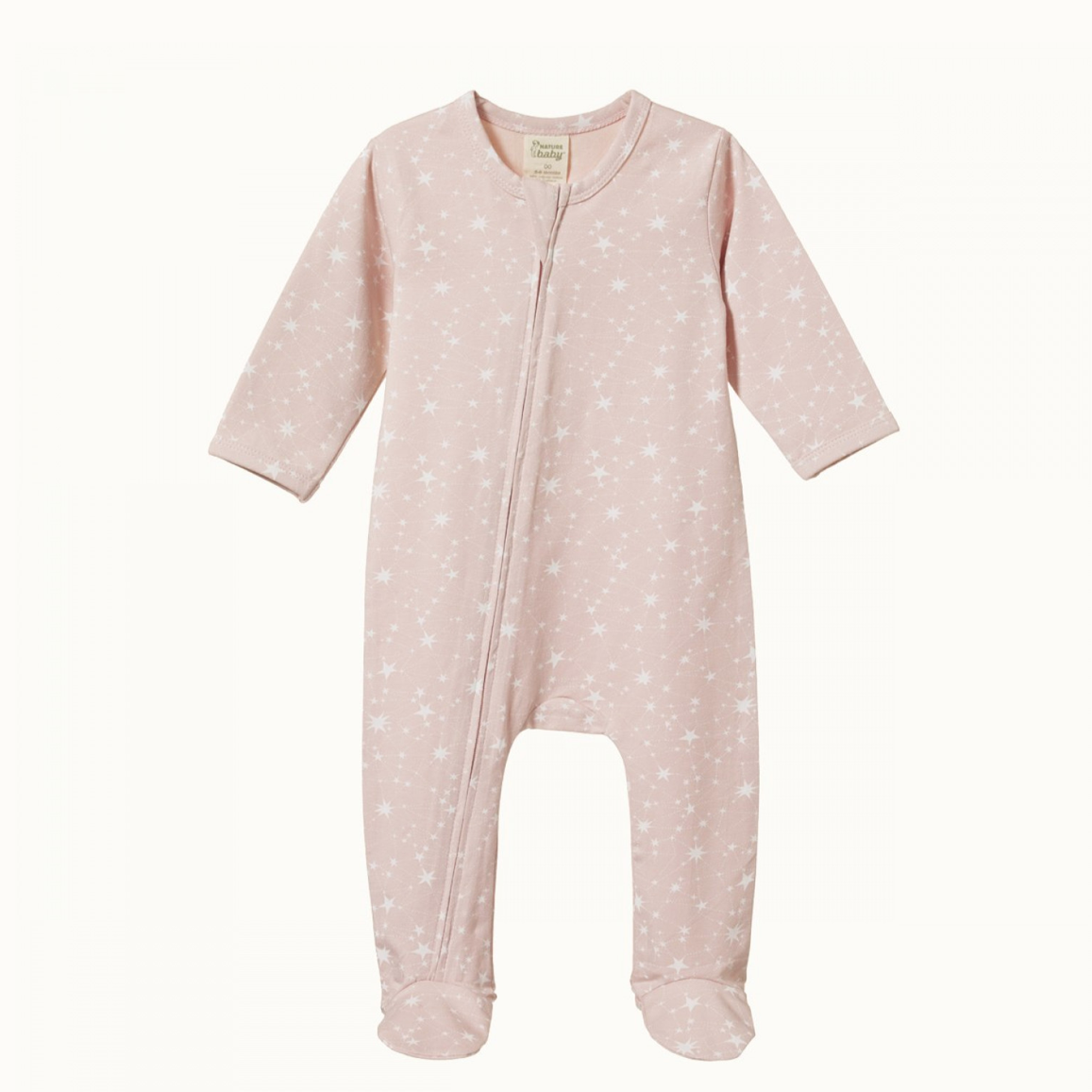 Nature Baby Dreamlands Suit in Stardust Print on Rosebud