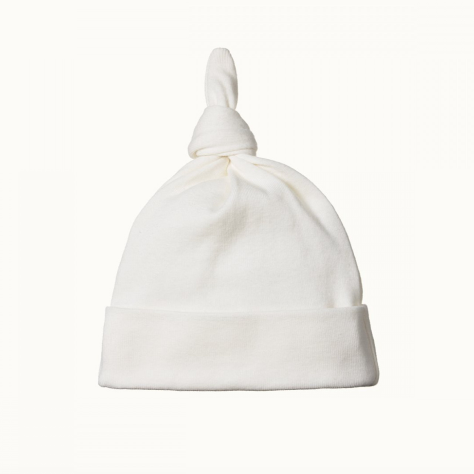 Nature Baby Knotted Beanie - Natural