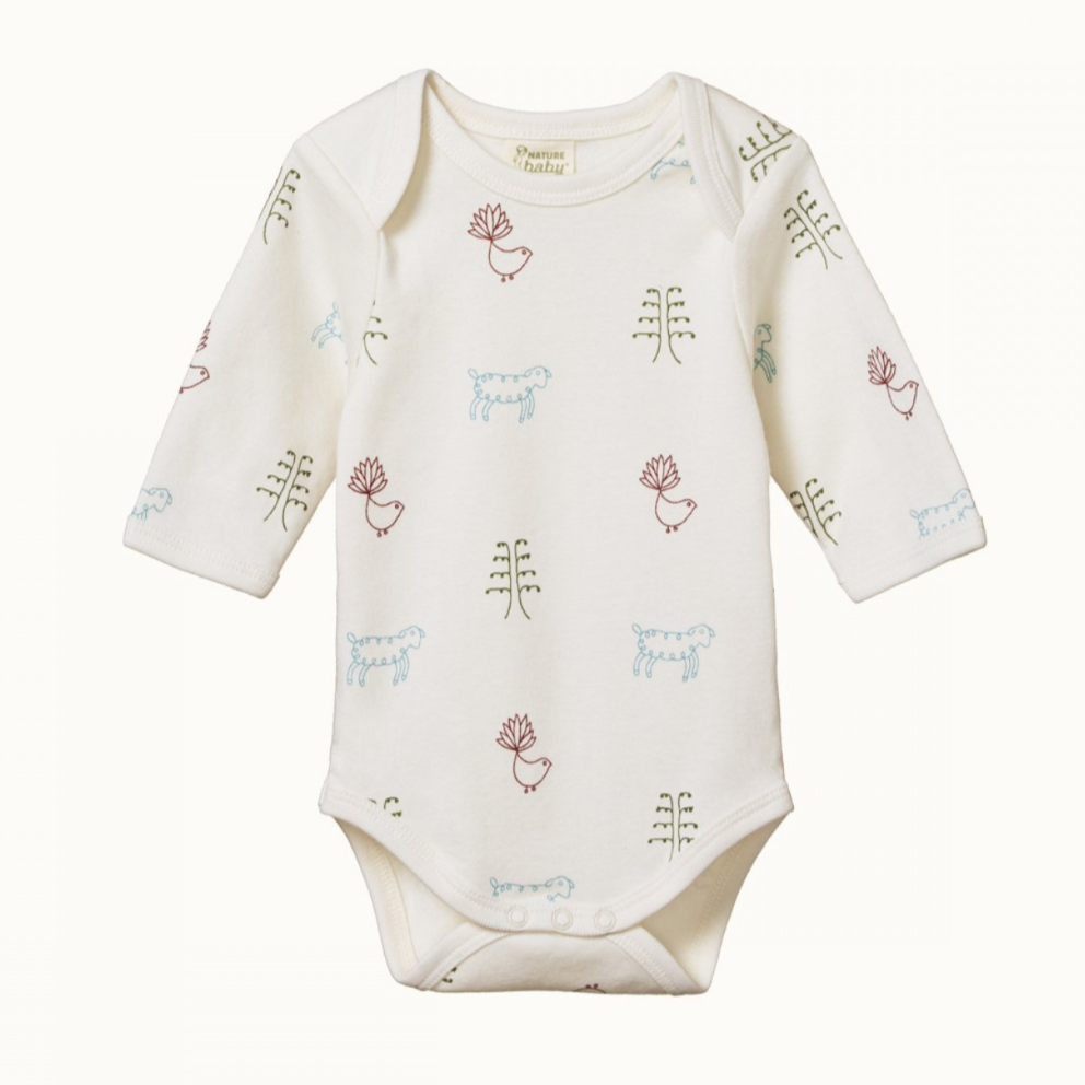 Nature Baby Long Sleeve Bodysuit - Nature Baby Print