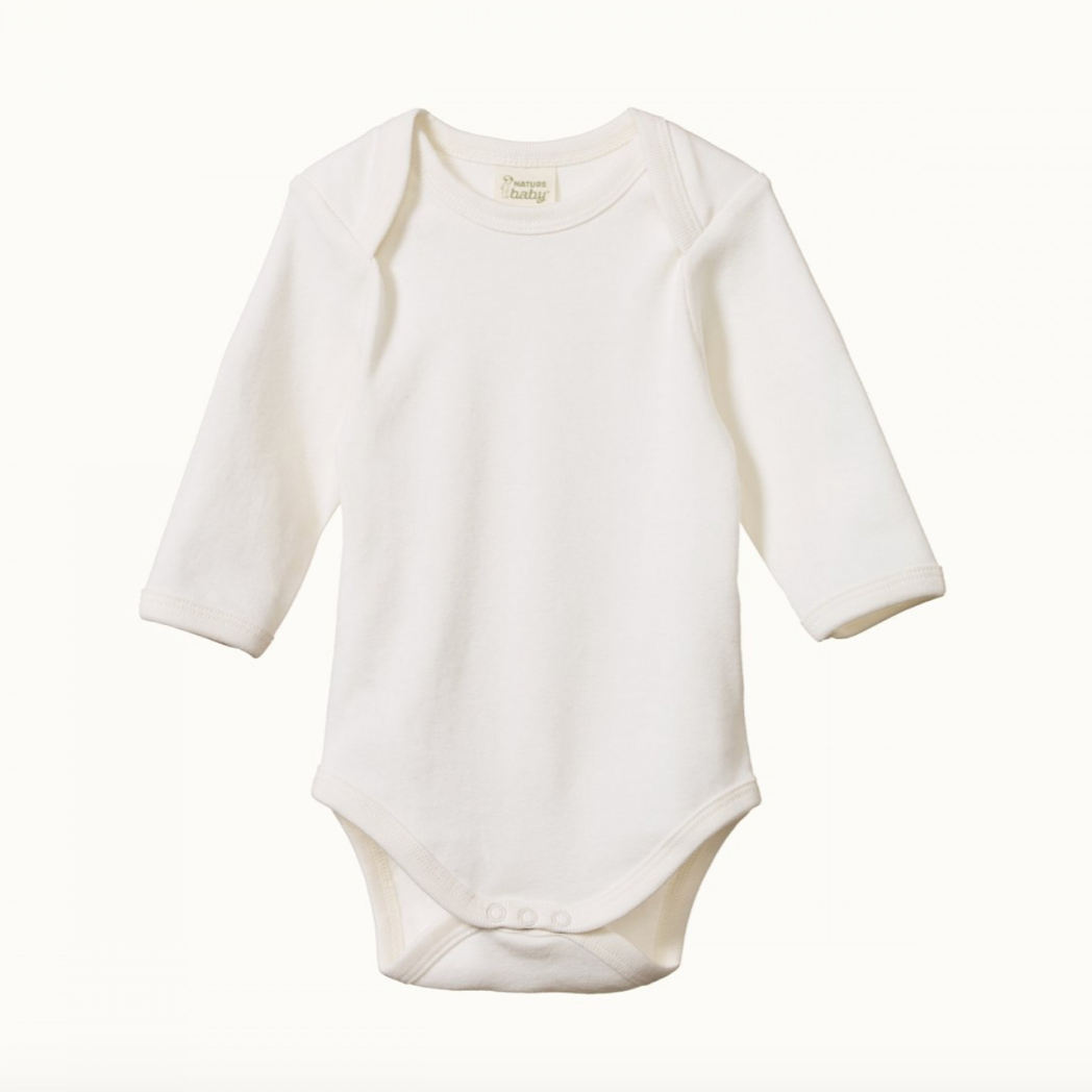 Nature Baby Long Sleeve Bodysuit -Natural