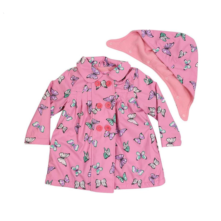 Korango Raincoat -Pink Butterfly
