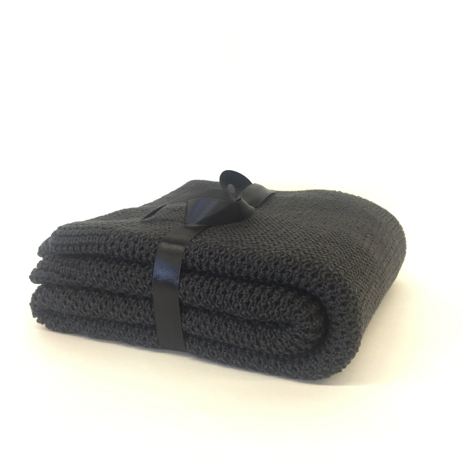Merino Wool Blanket Charcoal