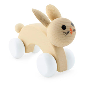Wooden Push Along Rabbit -Lola