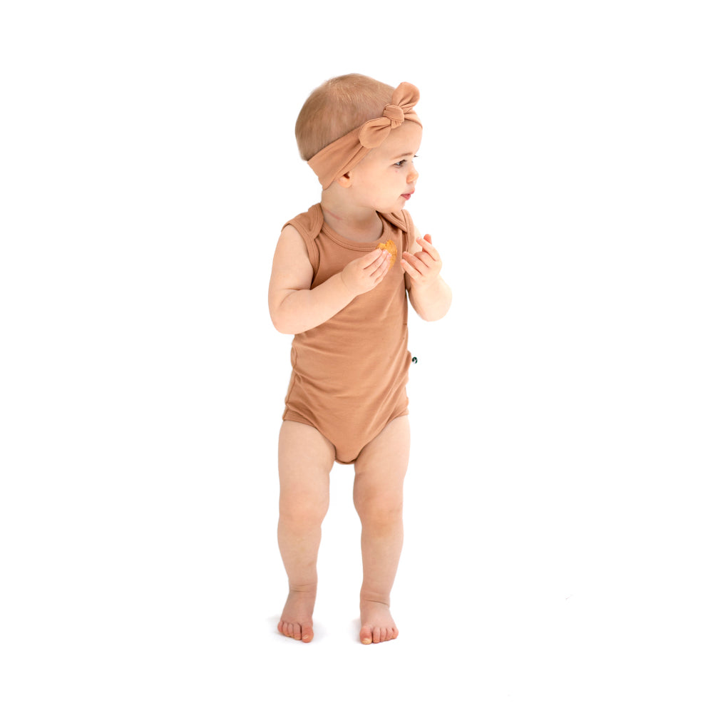 Burrow & Be -Singlet Onesie -Tawny Brown