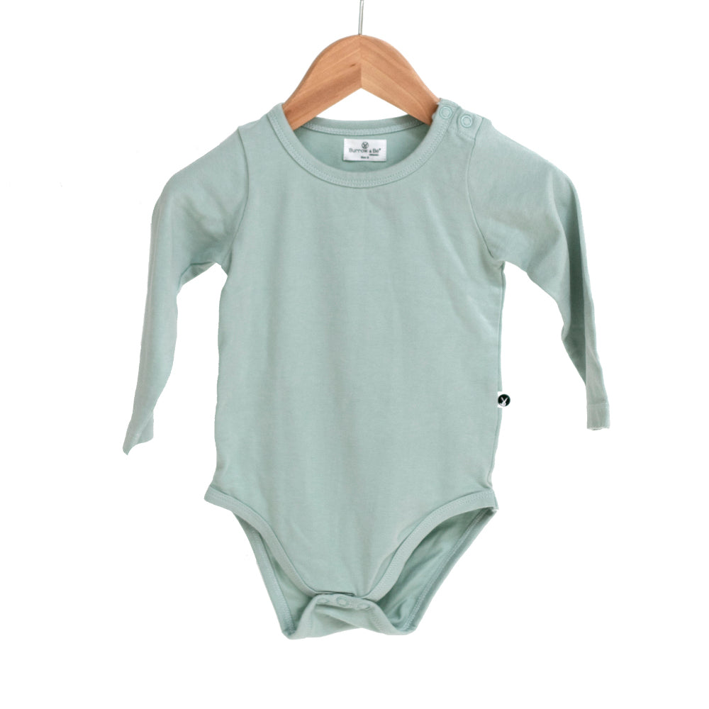 Burrow & Be -Long Sleeve Onesie -Mist