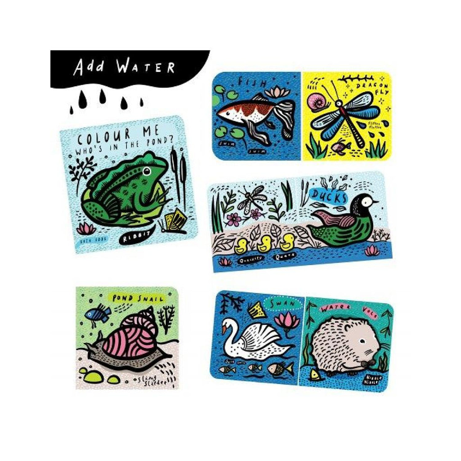Wee Gallery Bath Book Colour Me! -Who\'s in the pond? - Monkey Kids