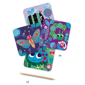 Djeco Scratch Cards -Bugs