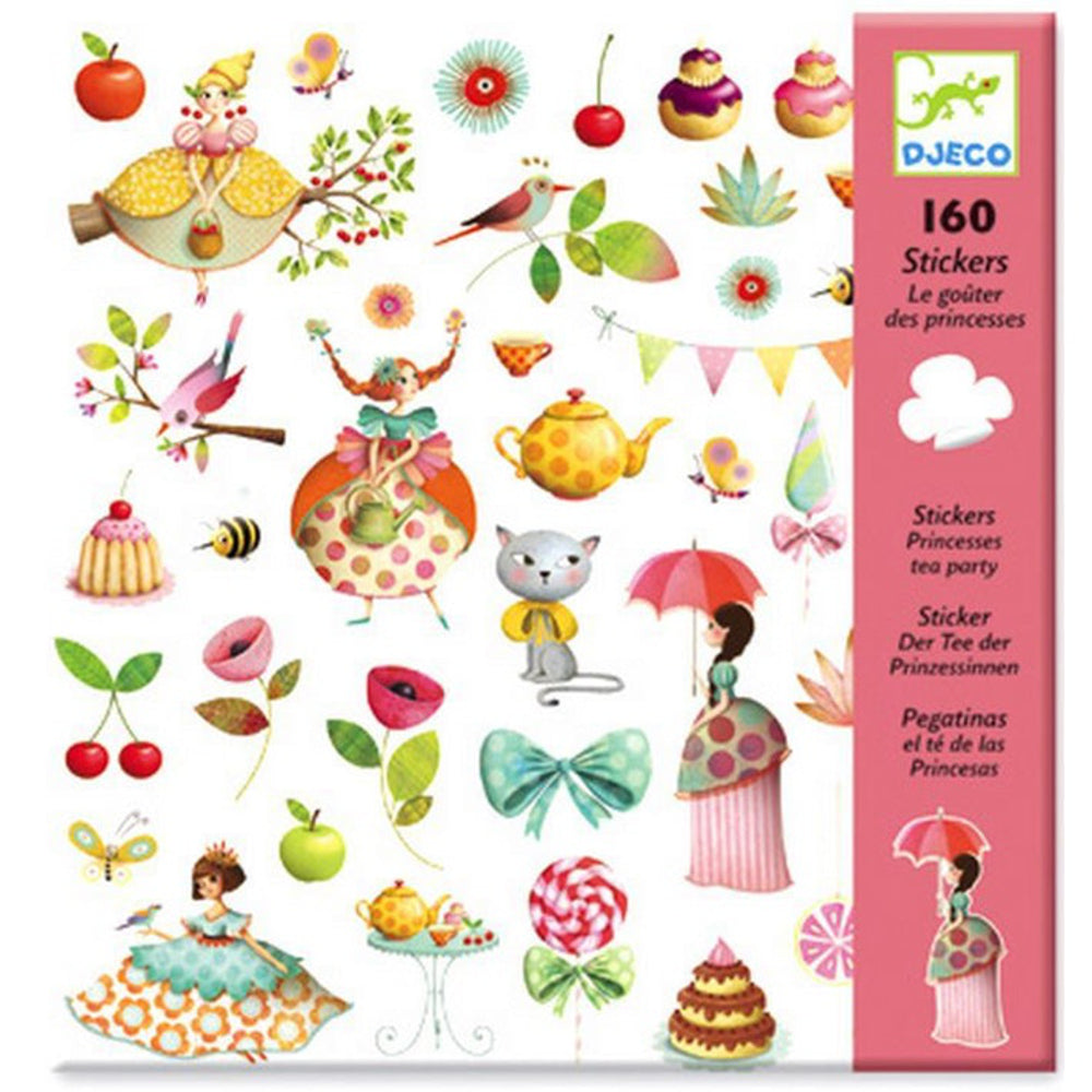 Djeco Stickers - Princess Tea Party