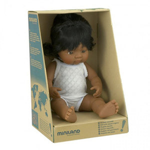 Miniland Doll 38cm Hispanic Girl *BOXED