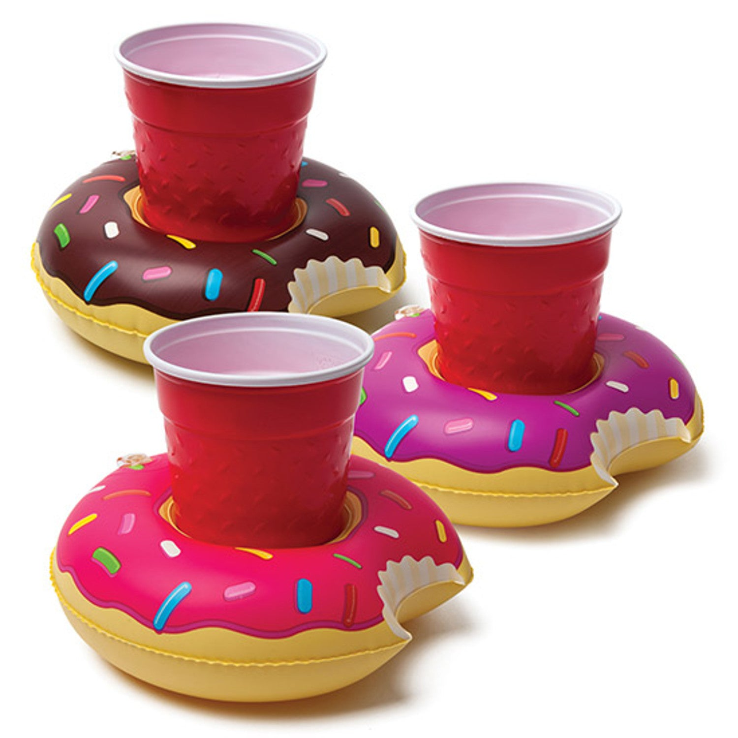 Pool Party Beverage Boats - Donuts