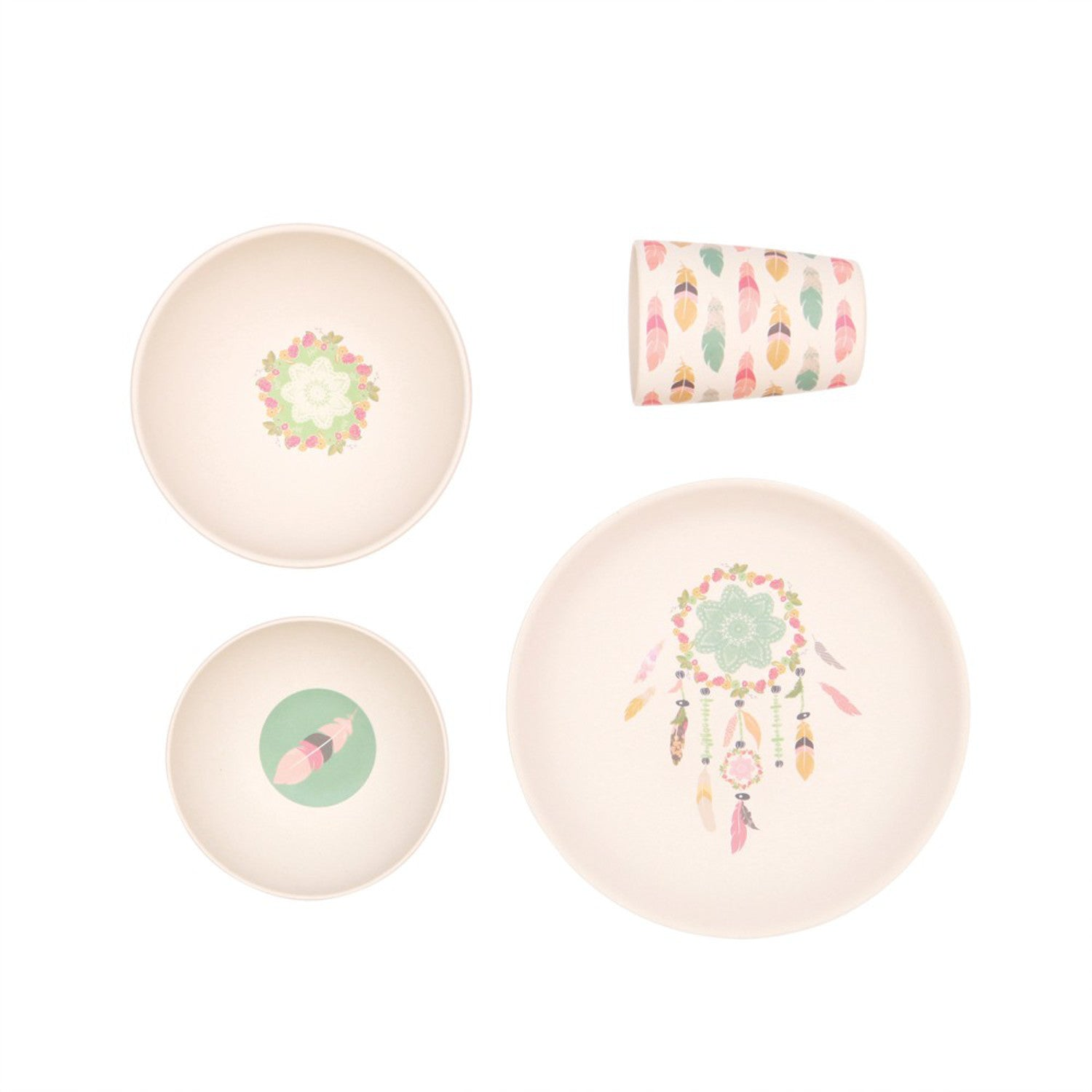 Love Mae 4 piece Dinner Set -Dreamy