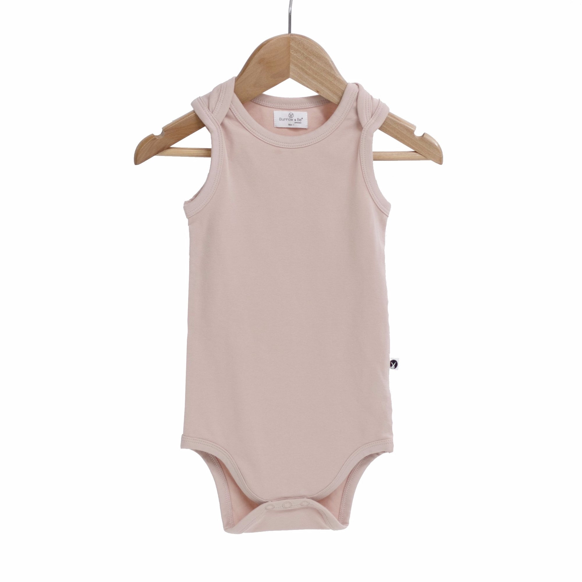 Burrow & Be Singlet Onesie in Dusty Rose
