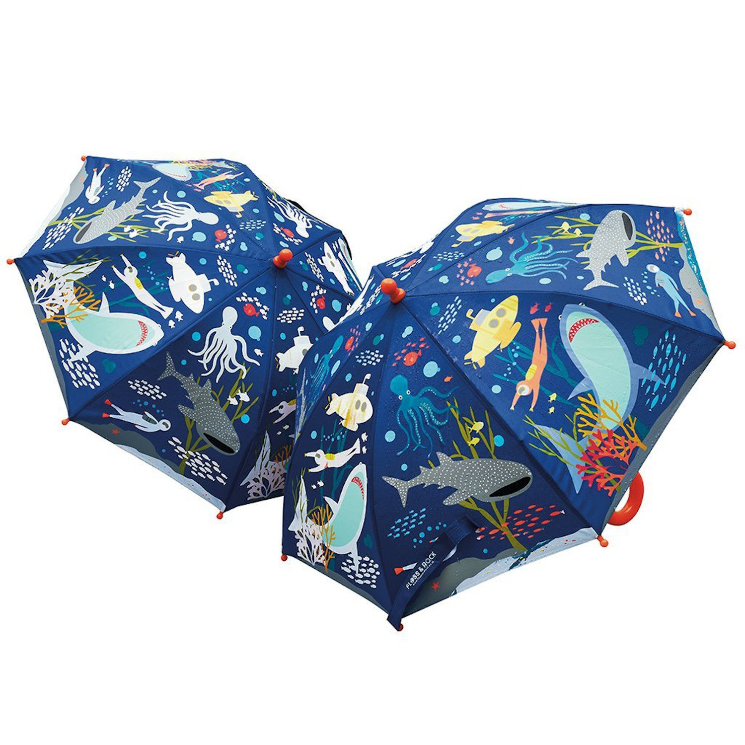 Floss & Rock Colour Changing Umbrella Deep Sea