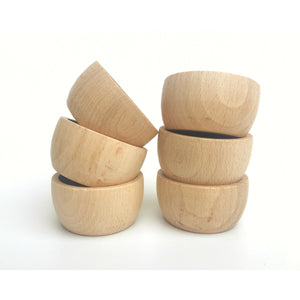 Grapat stacked wooden bowls with natural wax finish add these to your childs natural toy collection