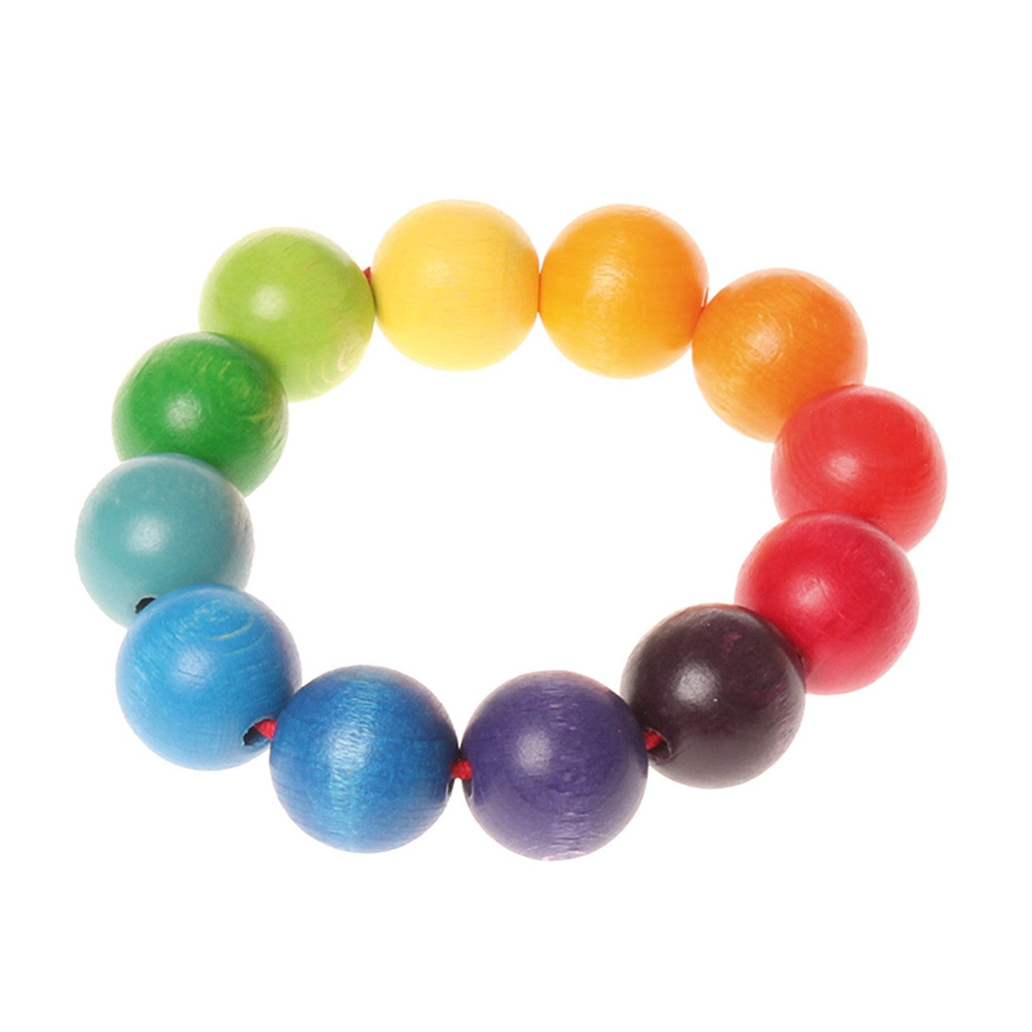 Grimm's Grasping Toy Bead Ring Rainbow
