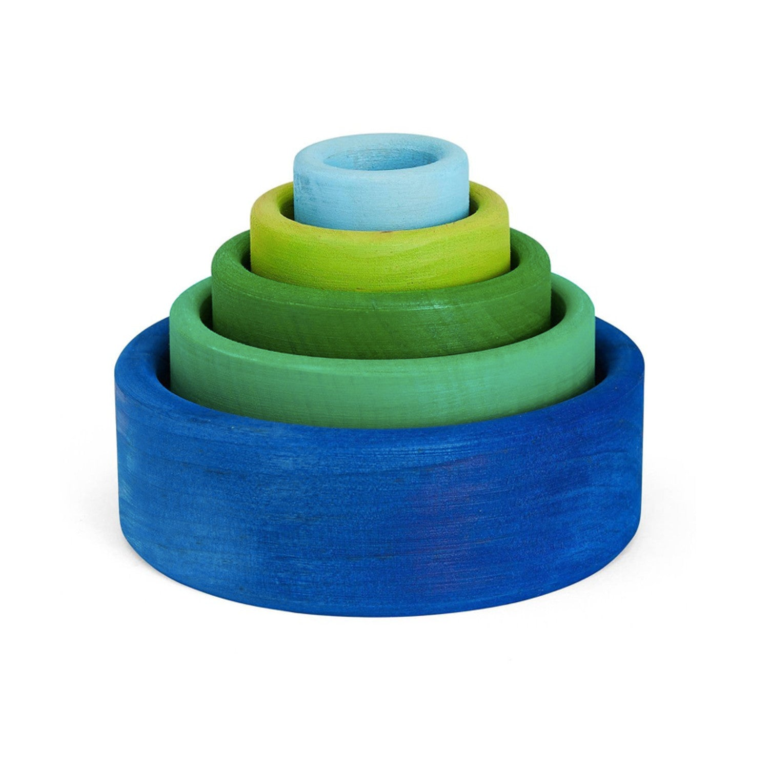 Grimm's Stacking Bowls – Ocean Blue Outside