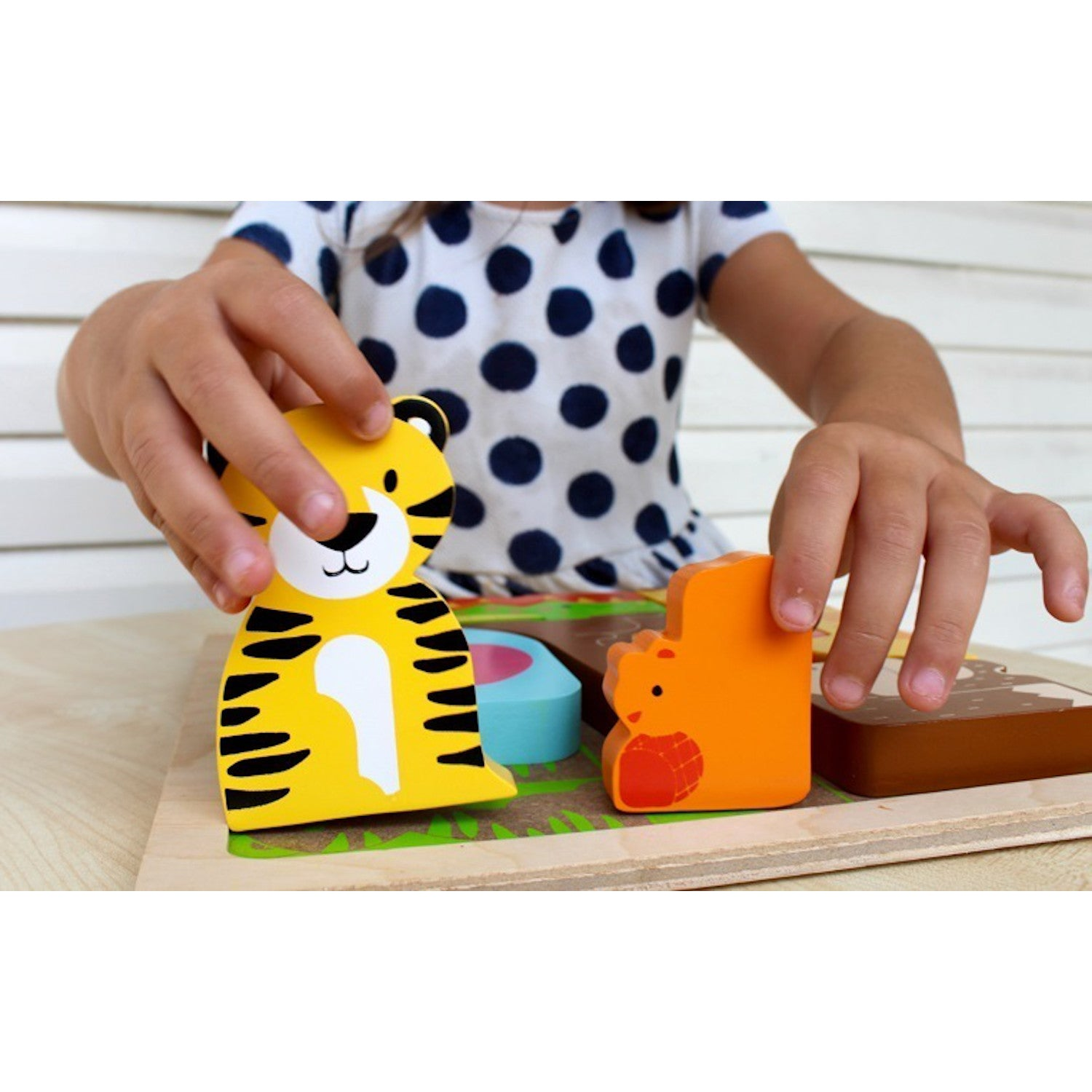 Chunky Wooden Puzzle Wild Animals
