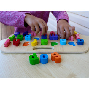 Chunky Wooden Puzzle Letters Lower Case