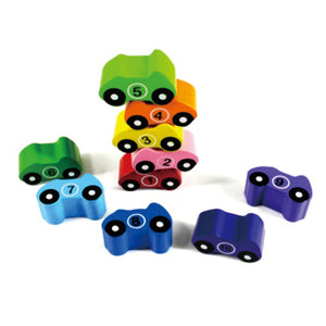 Chunky Wooden Puzzle 1-10 Car
