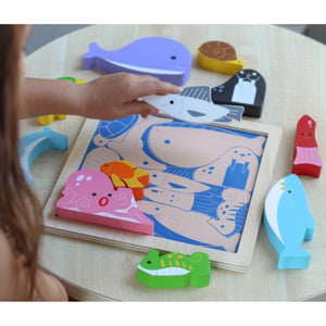 Chunky Wooden Puzzle Sea Creatures