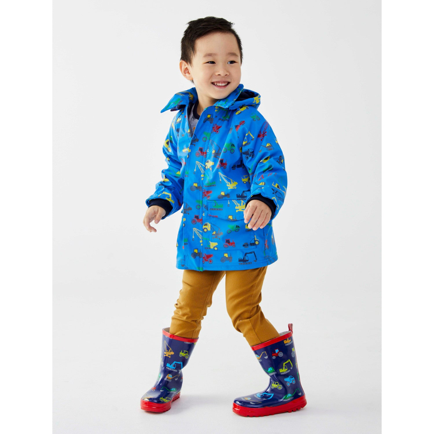 Korango Raincoat Excavator Blue Last One! Size 8 year