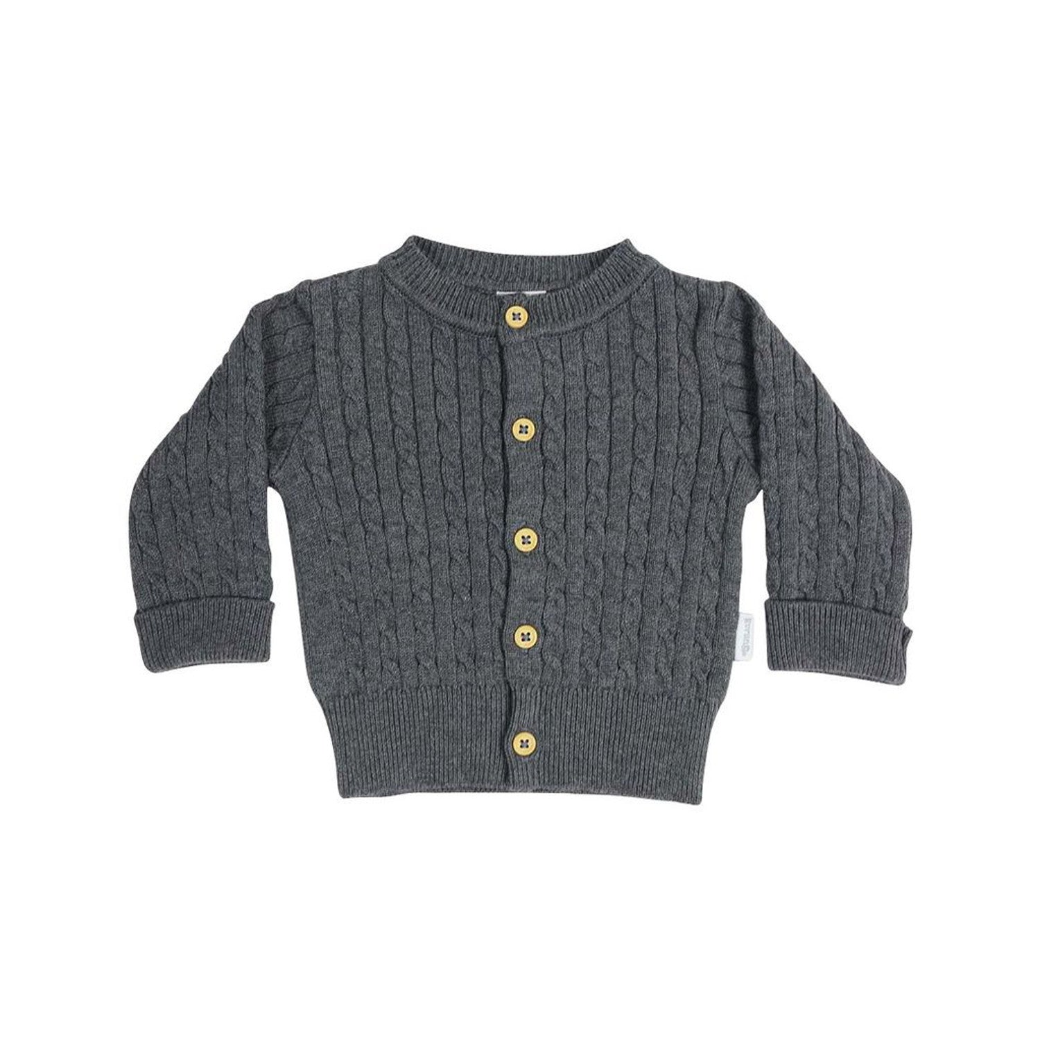 Korango Cable Knit Cardigan Grey