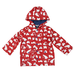 Korango Raincoat Construction Vehicles Red Colour Changing