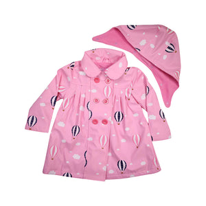 Korango Raincoat Hot Air Balloons Pink