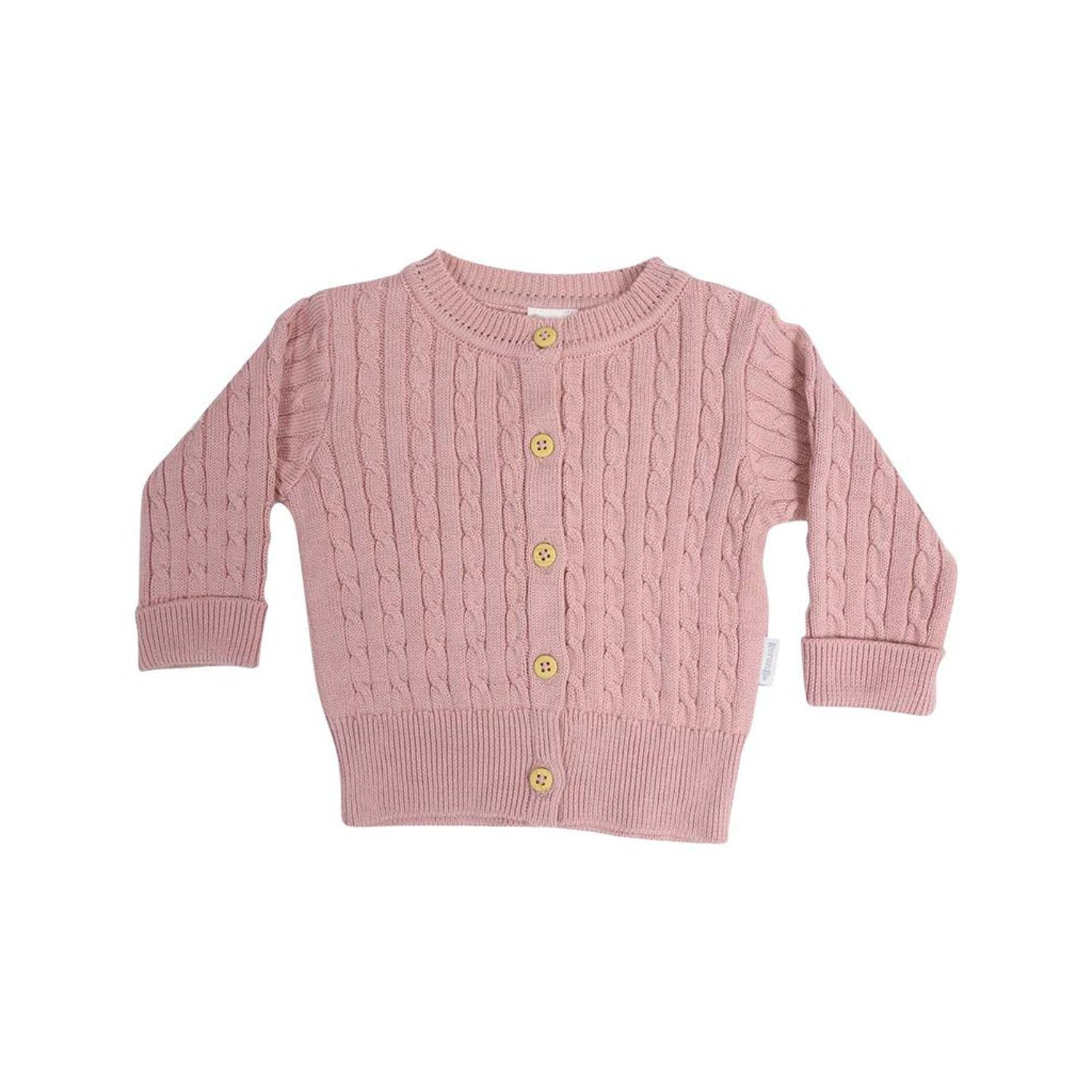 Korango Cable Knit Cardigan Pink